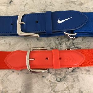 Adidas and Nike Baseball Adjustable Stretch Belts